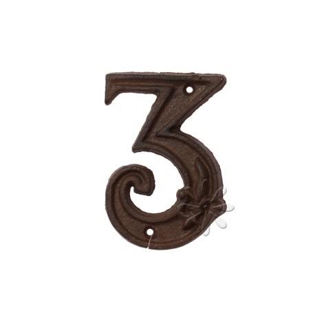 Öntöttvas házszám - 3