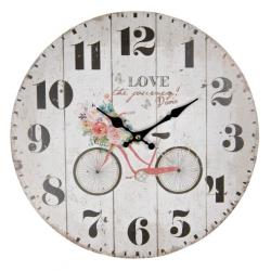 Fa Falióra 34cm biciklis rózsás
