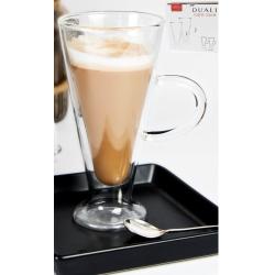Caffe Latte duplafalú hőtartó üvegpohár