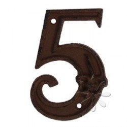 Öntöttvas házszám - 5