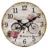 Fa Falióra biciklis rózsás 30cm