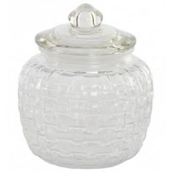 Tárolóüveg szilikonos üveg tetővel 1,4l