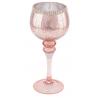 Rózsaszín antikolású gyöngyös szélű üvegkehely