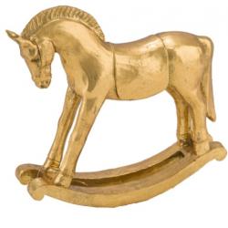 Arany hintaló műanyag dekorfigura