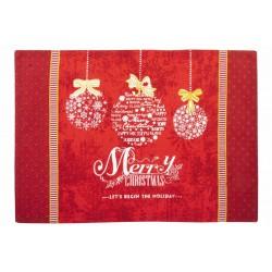 Tányéralátét textil Merry Christmas