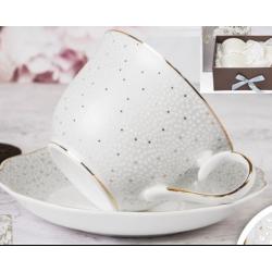 Porcelán csésze+alj szett , 2személyes 270ml