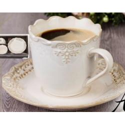 Porcelán csésze+alj szett , 2személyes 220ml