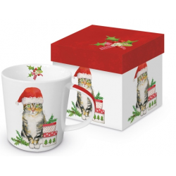Porcelán bögre dobozban 3,5dl cicás