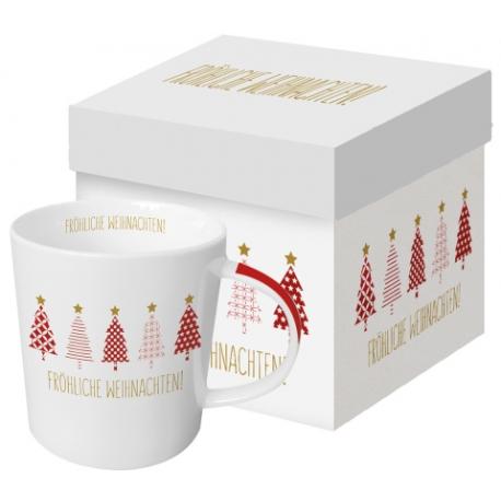 Porcelán bögre dobozban 3,5dl karácsonyfás