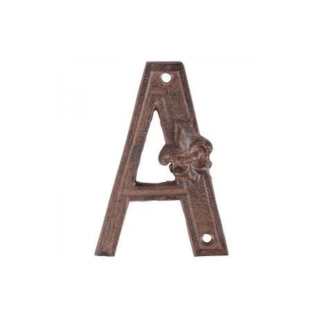Öntöttvas házszám - A betű