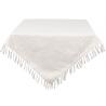 Asztalterítő, pamut 100x100cm fehér Jacquard