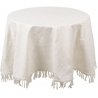 Asztalterítő kör 170cm fehér Jacquard
