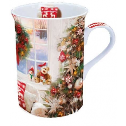 Porcelán bögre 0,25l karácsonyi