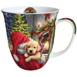 porcelán bögre 0,4l karácsonyi kutyus