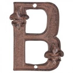 Öntöttvas házszám - B betű