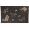 Lábtörlő gumi cicák 75x45cm