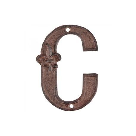 Öntöttvas házszám - C betű
