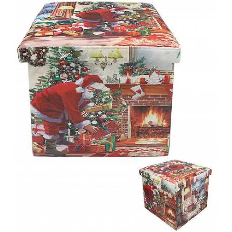 Tárolódoboz műbőr karácsonyos