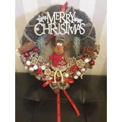 Ajtókopogtató 25cm Merry Christmas
