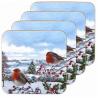 Parafa poháralátét 4db-os téli madaras