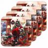 Parafa poháralátét 4db-os karácsonyi
