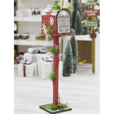 Santa Claus postaláda piros