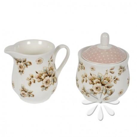 Cukortartó és tejkiöntő - Cottage Flower (Katie Alice)