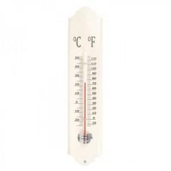 Festett fém hőmérő - fehér