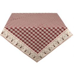 Asztalterítő 100x100cm svéd mintás szarvasos