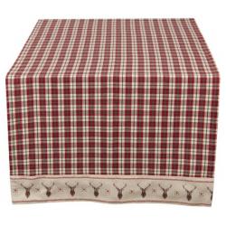 Asztali futó 50x140cm svéd kockás szarvasos