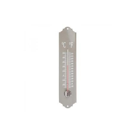 Festett fém hőmérő - szürke