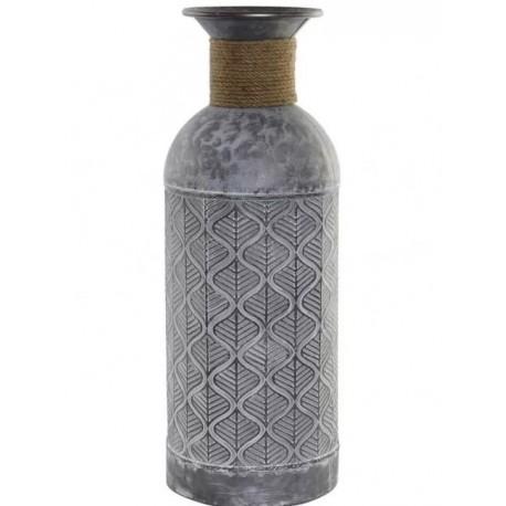 Fém váza metallizált szürke