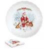 Porcelán desszert tányér 21 cm télapós