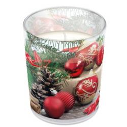 Illatgyertya üvegben Holiday Time illattal