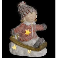 Kerámia figura Ledes kislány