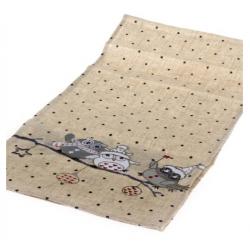 Textil asztali futó 33x140cm téli baglyos