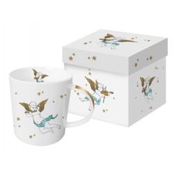 Porcelán bögre dobozban 3,5dl angyalkás