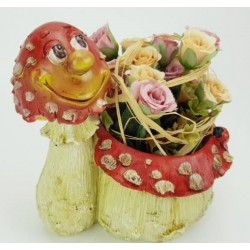 Virágtartó kaspó gomba figurás