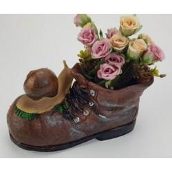 Virágtartó kaspó , bakancs csigákkal
