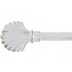 Függönyrúd dupla fém fehér