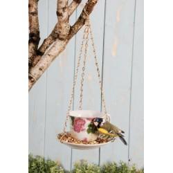 Kerámia madáretető függő , teáscsésze