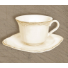 Kerámia teáscsésze +alj antikolt 0,25l