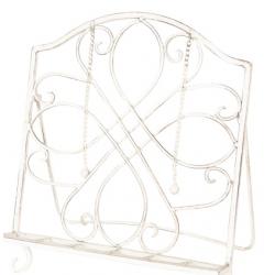 Szakácskönyvtartó antikolt fém fehér