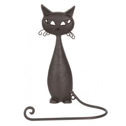 Fém fali kéztörlő tartó macskás