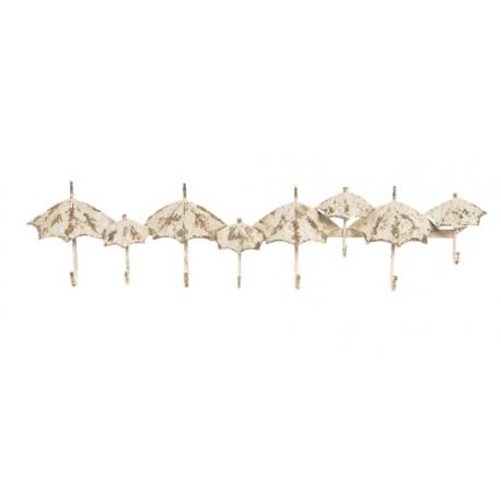 Fém falifogas esernyős, antikolt fehér