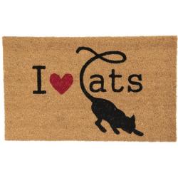 Lábtörlő 75x45cm, macskás I love cats