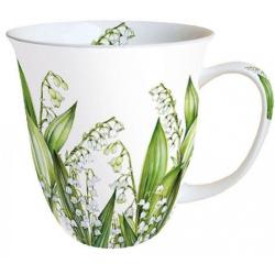 Porcelán bögre 4dl liliomos