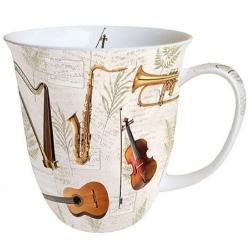 Porcelán bögre 4dl hangszeres