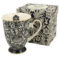 Porcelánbögre, 325ml, William Morris, kék