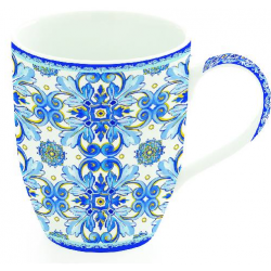 Porcelánbögre, 350ml, Maiolica Blue